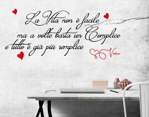 Credo nell amore amore desiderio. Adesivi Murali Vasco Rossi Vita Complice Wall Stickers Frasi Decorazione Parete Ebay