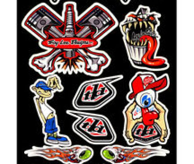 Image Is Loading Troy Lee Designs Motocross Bumper Decal Sticker Set