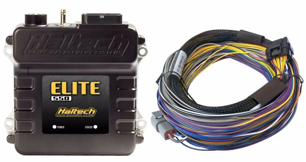 medium resolution of haltech ht 150402 elite 550 ecu 2 5m 8 ft basic universal wire in harness kit