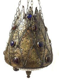 Moroccan Hanging Pendant Perforated Brass Metalwork ...