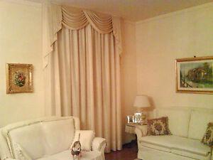 Tenda mantovana in cotone dublino con tessuto in tartan rosso cm.160x300h. Tenda Sila Con Mantovana Realizzata Artigianalmente In Raso Di Cotone Ebay