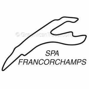 Spa Race Track Sticker Graphic Decal, Motor Racing GP F1