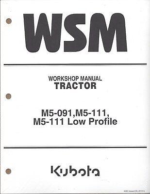 Kubota M5-091 M5-111 Tractor Workshop Service Repair
