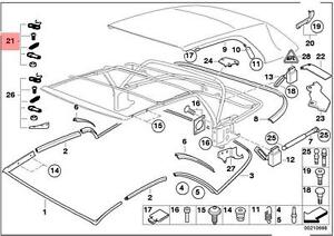 Genuine BMW 3 Series E46 Convertible Roof Top Repair Kit