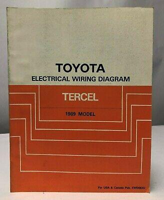 1989 toyota tercel electrical wiring diagrams service shop repair manual  ewd  ebay