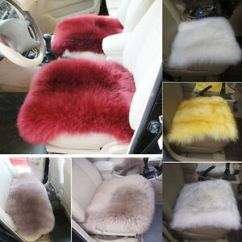Sheepskin Chair Pad Australia How Much Weight Can A Gaming Hold Luxury Faux Soft Natural Long Wool Fur Rug Car Seat Mat Sofa Cushion | Ebay