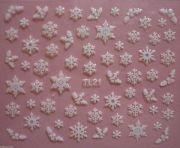 christmas white glitter snowflakes