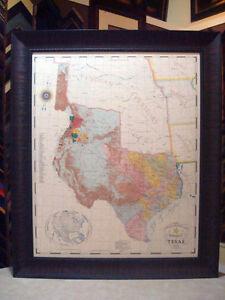 Framed Texas Map : framed, texas, REPUBLIC, TEXAS, FRAMED