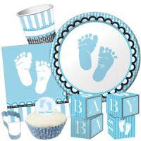 SWEET BABY FEET BLUE Baby Shower Party Range Boy Tableware ...