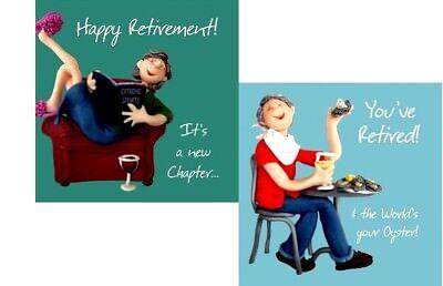 retired retirement greetings card