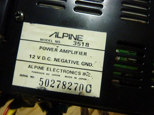 small resolution of vintage alpine 3518 amp old school 2 channel car amplifier japan s h ebay