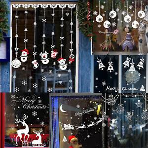 christmas wall art removable home vinyl window wall stickers decal