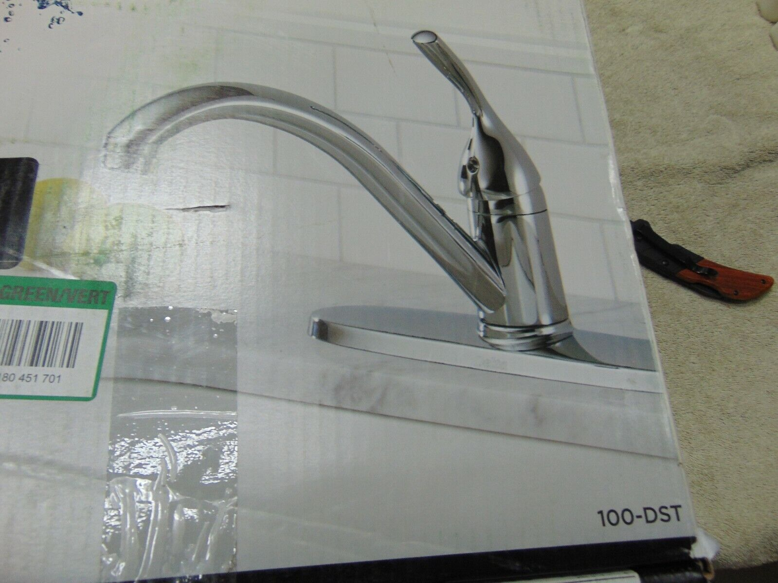 delta classic 100 dst 1 handle kitchen faucet in chrome finish