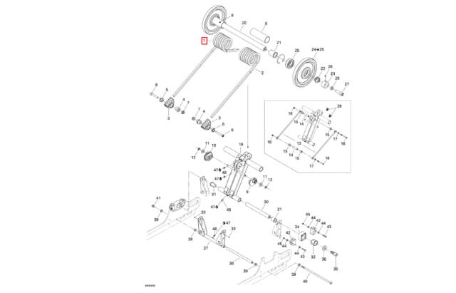 SKI-DOO SC3 REV CHASSIS REAR SUSPENSION SPRINGS 503190712
