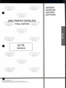 2001 OMC /JOHNSON 25 TE/ MODELS OUTBOARD MOTOR PART MANUAL