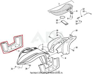NEW OEM ARCTIC CAT YOUTH ATV 90 Y-12 RIGHT SIDE FOOTWELL