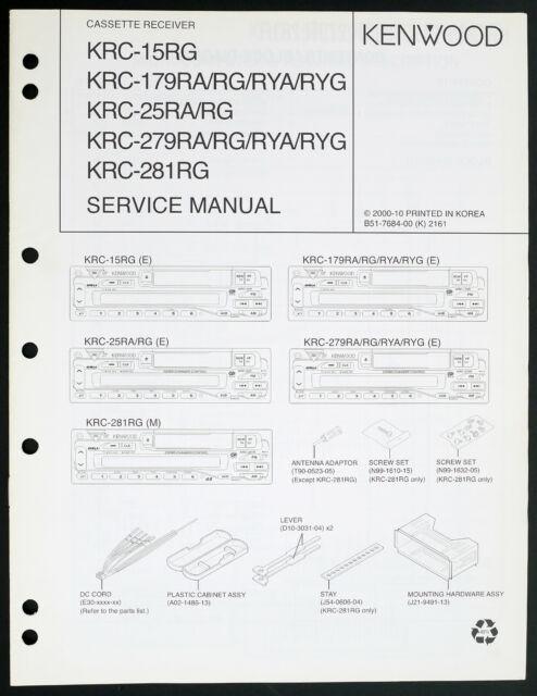 Kenwood KRC-13RG KRC-178RA / Rg/ Rya / Ryg Original
