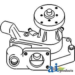 John Deere Parts WATER PUMP RE51892 5400N (ENGINE SN