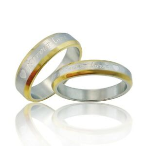 FOREVER LOVE Herz Ring Eheringe GRAVUR Partnerringe
