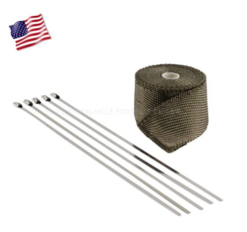 carbon titanium header wrap kit exhaust pipe high heat 2 15 feet reduced gauge auto parts and vehicles tu berlin auto parts accessories