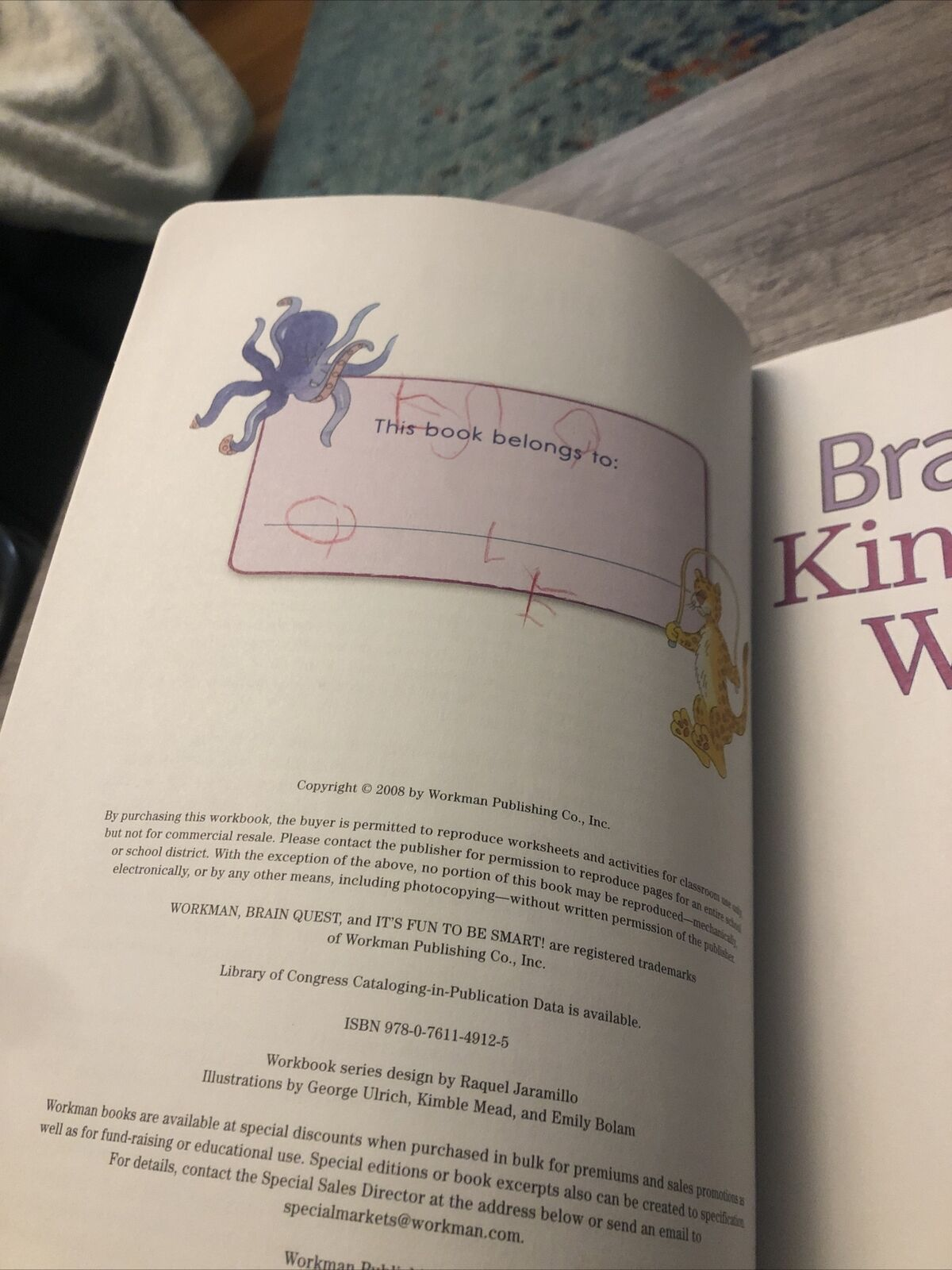 hight resolution of Brain Quest Workbooks Ser.: A Whole Year of Curriculum-Based Exercises and  Activities in One Fun Book! by Lisa Trumbauer (2008