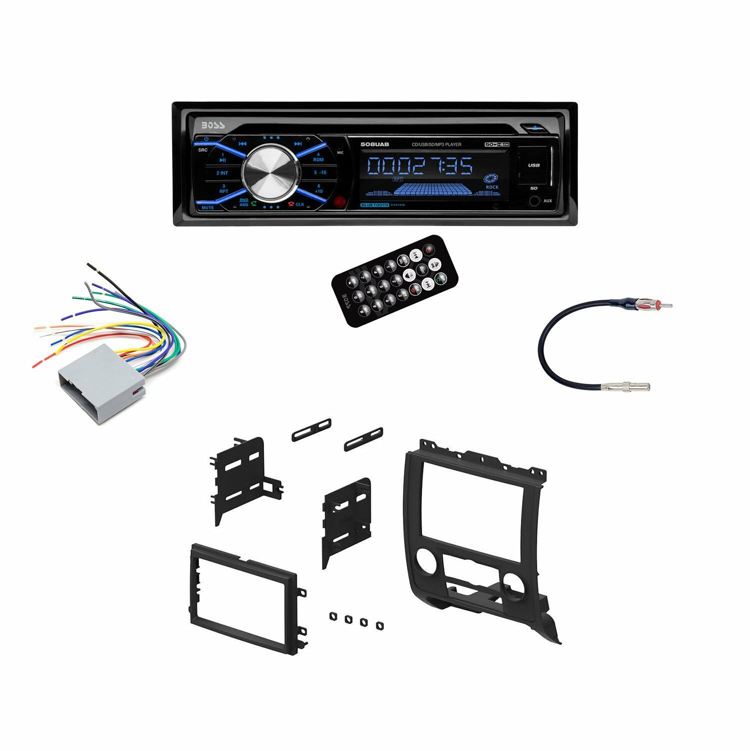 hight resolution of  boss uab car stereo wiring harness on