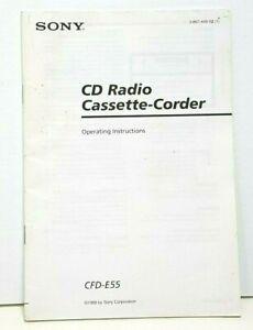 Sony CD Radio CaSsette-Corder recorder CFD-E55 Manual