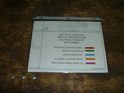 new holland l225 skid steer loader 4 electrical wiring diagram schematic  manual  ebay