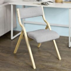 Folding Chair Uk Armrest Covers Sobuy Wood Grey Padded Home Office Dining Image Is Loading