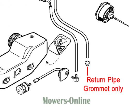 Genuine Stihl Fuel Tank (Return Pipe) Grommet 0000 989