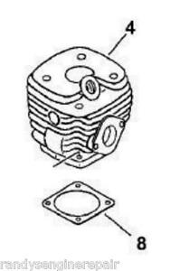 CYLINDER assembly echo chainsaw select serial numbered cs