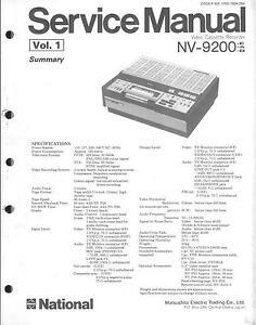 Panasonic National Matsushita Original Service Manual for