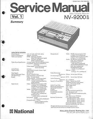 Panasonic National Matsushita Original Service Manual für