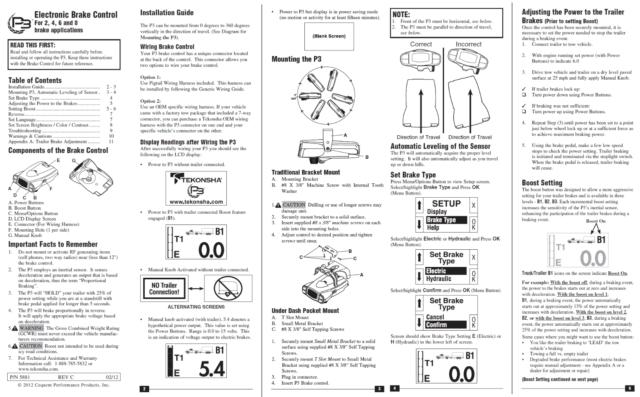 Tekonsha Prodigy Trailer Brake Control for 03-06 Chevy