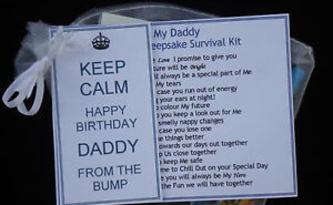 Dad To Be Birthday Card Present Gift From The Bump Mum To