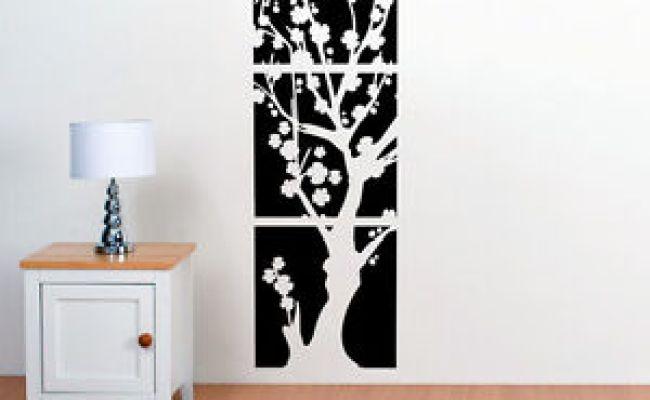 Asian Japanese Cherry Blossoms Flower Tree Vinyl Wall