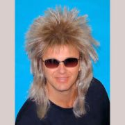 80's spiky poita blonde mullet