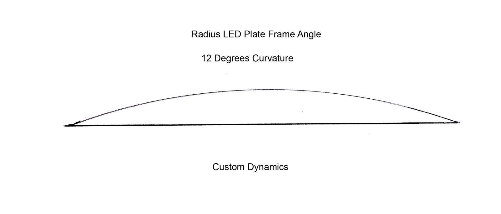 Custom Dynamics Chrome Radius License Plate Frame LED Turn