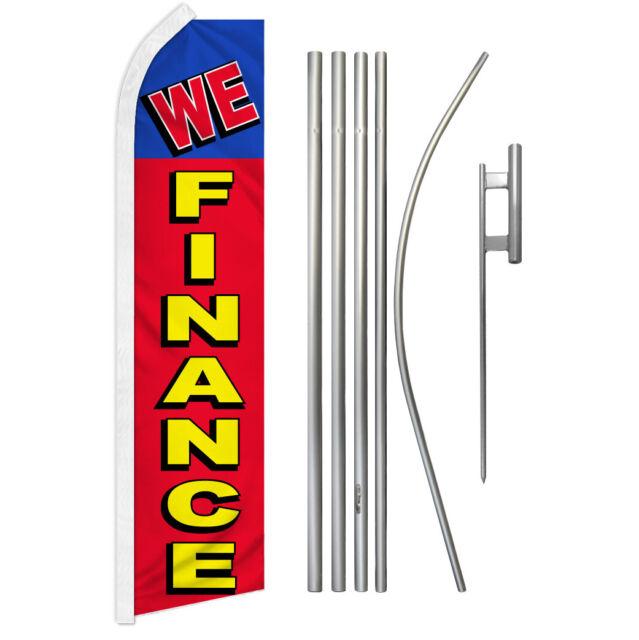 We Finance Swooper Advertising Feather Flutter Flag Pole Kit Financing Dealers | eBay
