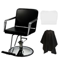Beauty Salon Chairs Images Polyester Chair Covers For Sale Professional Black Hydraulic Styling Barber Spa Image Is Loading