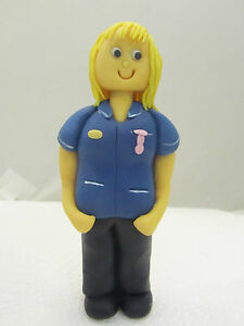 Lady Nurse Midwife Edible Hand Made Figure Birthday Cake