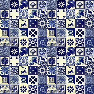 details about blue white mexican tile handmade talavera backsplash handpainted mosaic