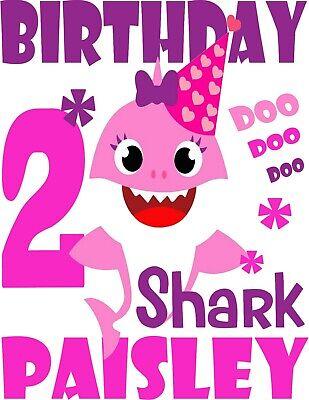 Baby Shark Birthday Svg Free : shark, birthday, Shark, Custom, Birthday, Shirt, Personalizing