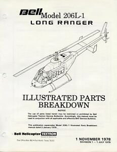 BELL HELICOPTER MODEL 206L-1 LONG RANGER ILLUSTRATED PARTS