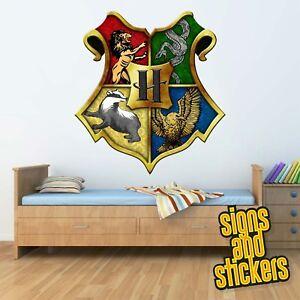 details sur hogwarts shield crest harry potter autocollant mural decalcomanie garcons filles chambre a coucher afficher le titre d origine