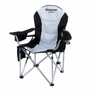 lightweight folding chairs hiking steel chair godrej kingcamp lumbar support portable heavy duty large size camping | ebay