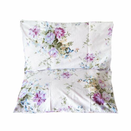 2 piece standard size pillow shams 100 cotton purple floral pillow cases pillowcases bedding