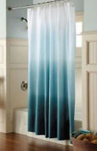 details about target home threshold ombre cool blue shower curtain teal aqua 72x72 new have 3