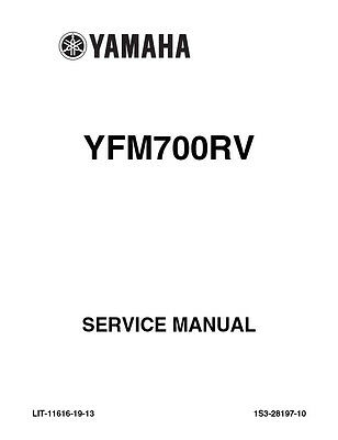 New Yamaha YFM700 YFM Raptor 700 RV Repair Service Manual
