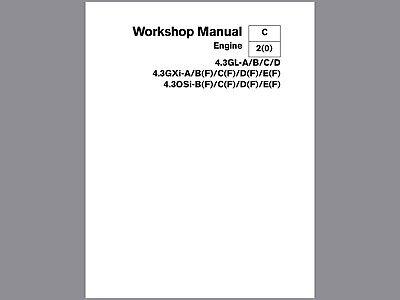 Volvo Penta Workshop Manual For 4.3 Series Engines, This